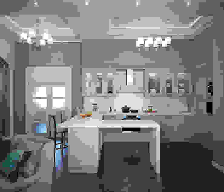 квартира на Аптекарской набережной Кухня в классическом стиле от EJ Studio Классический