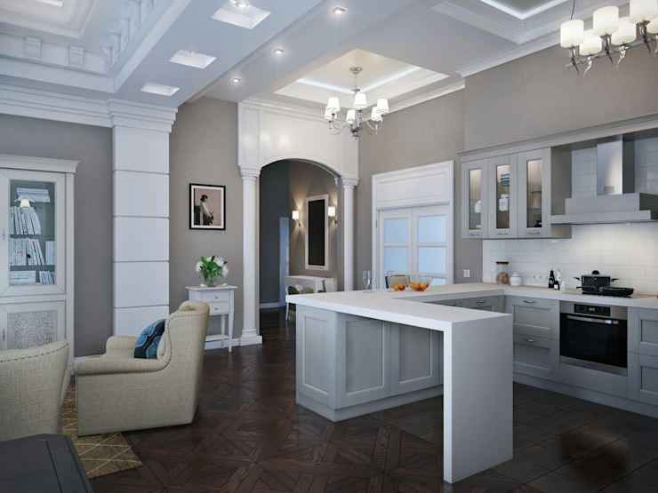 Classic style kitchen by EJ Studio Classic