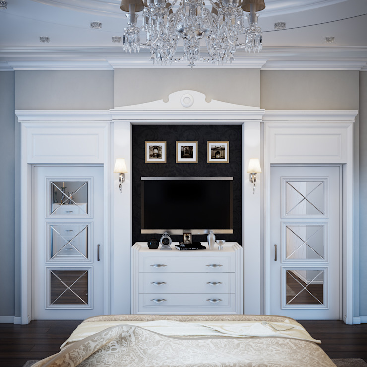 квартира на Аптекарской набережной Спальня в классическом стиле от EJ Studio Классический