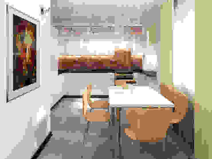 Переработка квартиры 1962 года Столовая комната в эклектичном стиле от Дизайн студия Александра Скирды ВЕРСАЛЬПРОЕКТ Эклектичный