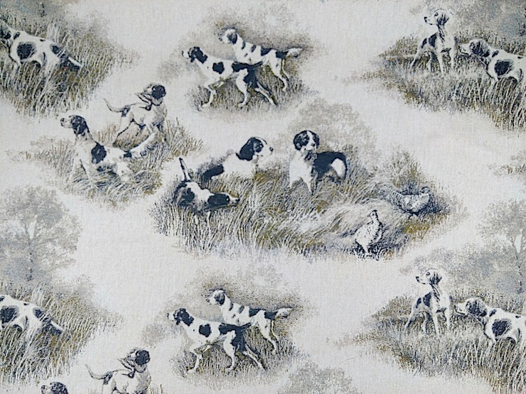 Hounds Linen Cotton Tapestry Fabric: country  by The Millshop Online, Country