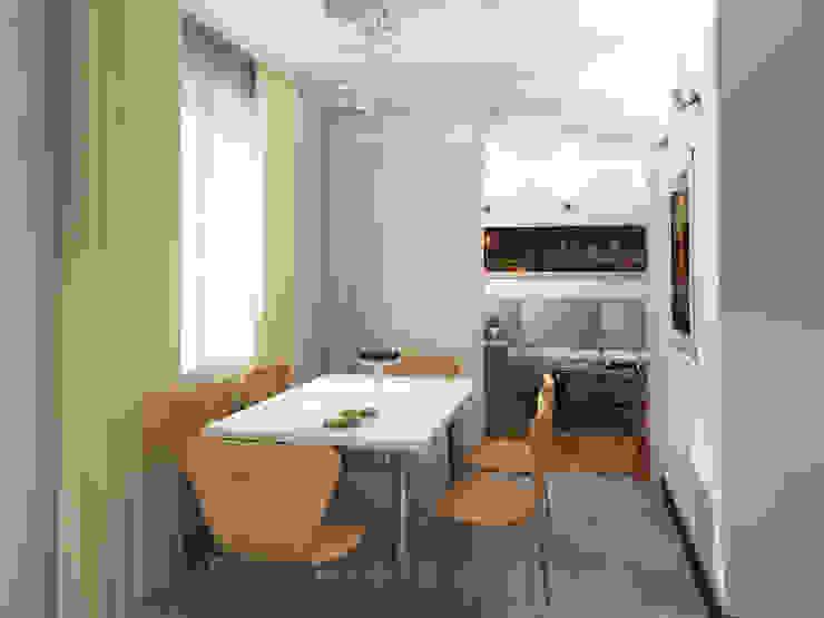 Dining room by Дизайн студия Александра Скирды ВЕРСАЛЬПРОЕКТ