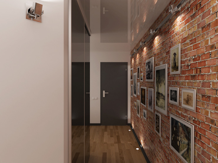 Переработка квартиры 1962 года Коридор, прихожая и лестница в стиле лофт от Дизайн студия Александра Скирды ВЕРСАЛЬПРОЕКТ Лофт