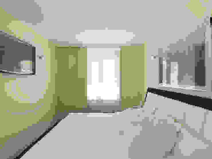 Переработка квартиры 1962 года Спальня в стиле минимализм от Дизайн студия Александра Скирды ВЕРСАЛЬПРОЕКТ Минимализм