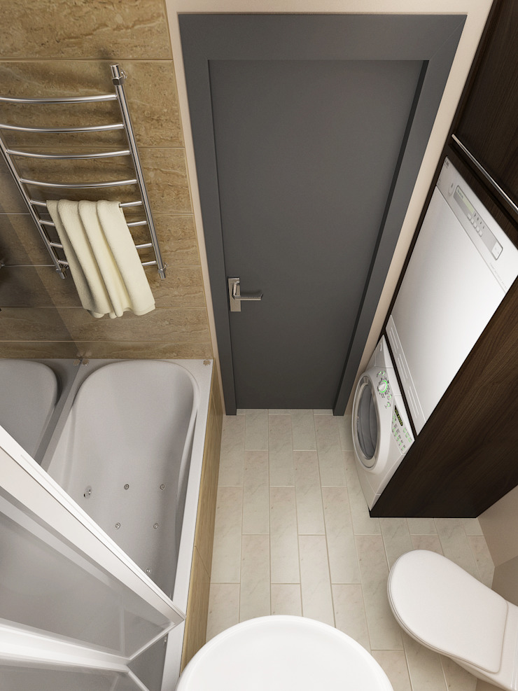 Переработка квартиры 1962 года Ванная комната в стиле минимализм от Дизайн студия Александра Скирды ВЕРСАЛЬПРОЕКТ Минимализм