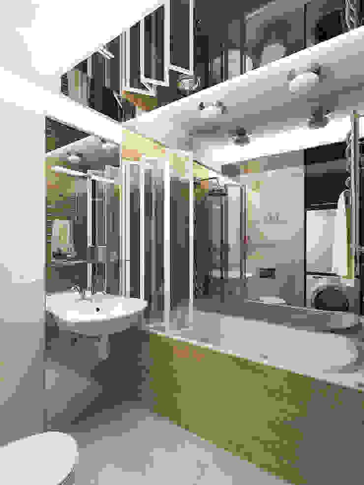 Переработка квартиры 1962 года Ванная комната в эклектичном стиле от Дизайн студия Александра Скирды ВЕРСАЛЬПРОЕКТ Эклектичный