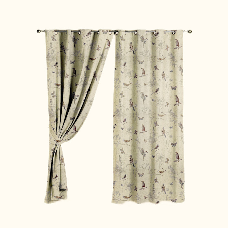 Woodland Birds Curtains: country  by The Millshop Online, Country