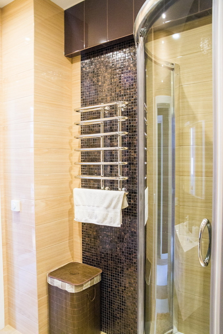 Молочный шоколад Ванная комната в стиле минимализм от blackcat design Минимализм