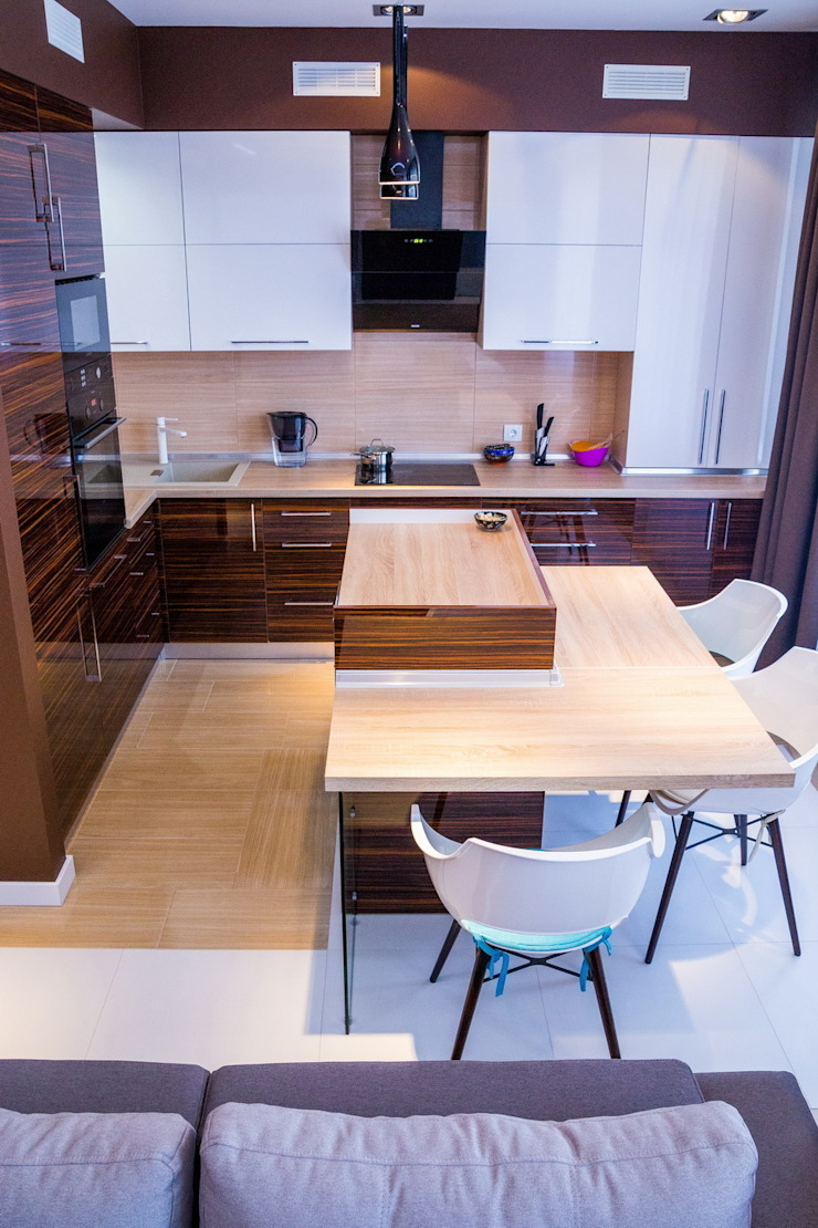 Молочный шоколад Кухня в стиле минимализм от blackcat design Минимализм