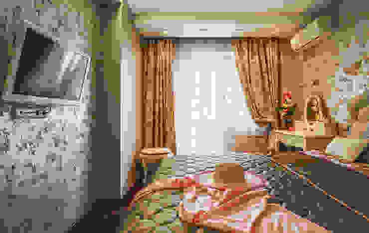 Уютная квартира в теплых тонах Спальня в классическом стиле от Ольга Макарова (Экодизайн) Классический