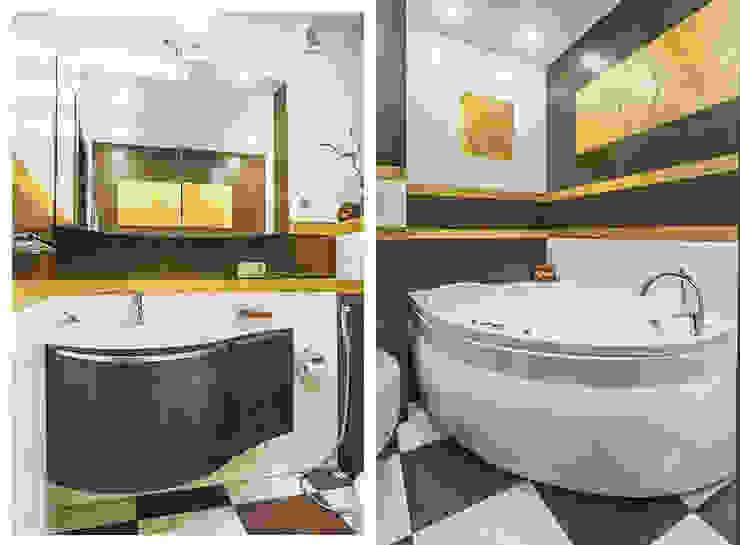 Золото и коричнывый в интерьере Ванная в азиатском стиле от Ольга Макарова (Экодизайн) Азиатский
