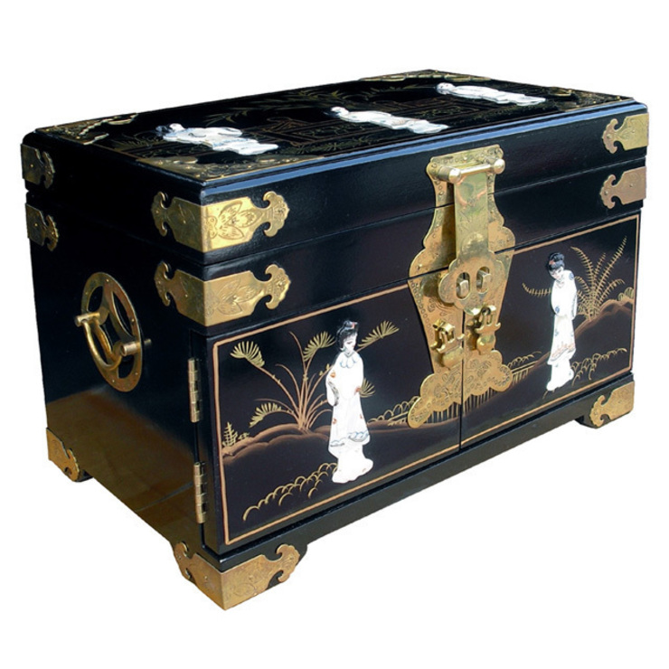 Chinese Lacquer Jewellery Box: asian  by Asia Dragon  Furniture  from London, Asian