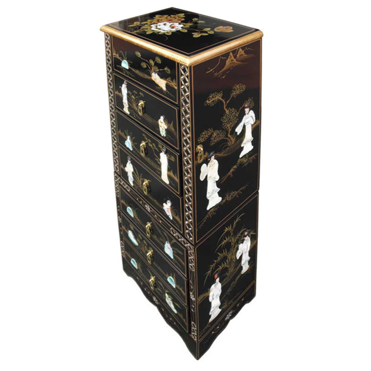 Chinese Lacquer Jewellery Armoire: asian  by Asia Dragon  Furniture  from London, Asian