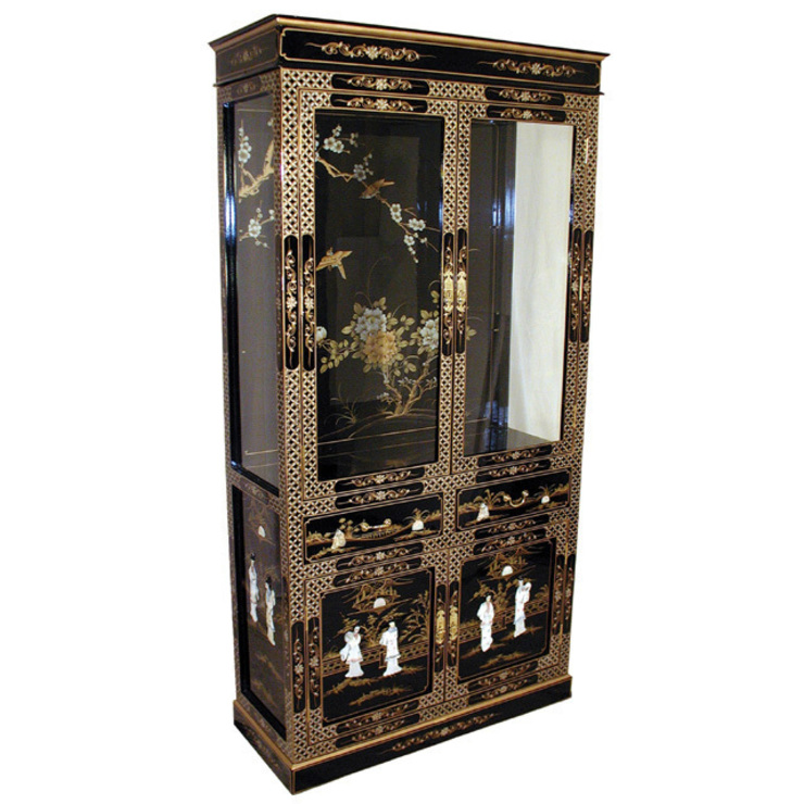 Chinese Lacquer Display Cabinet: asian  by Asia Dragon  Furniture  from London, Asian