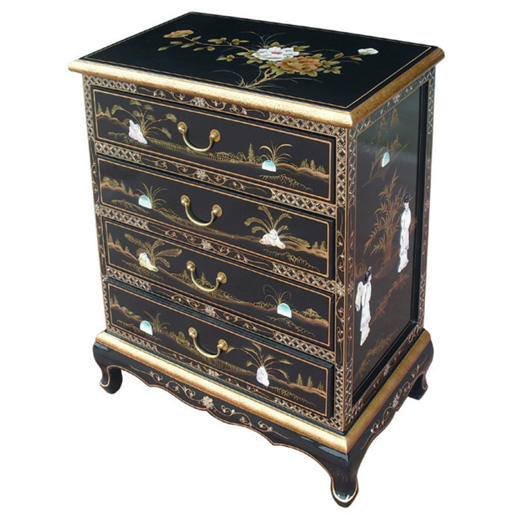 Chinese Lacquer Chest of Drawers: asian  by Asia Dragon  Furniture  from London, Asian