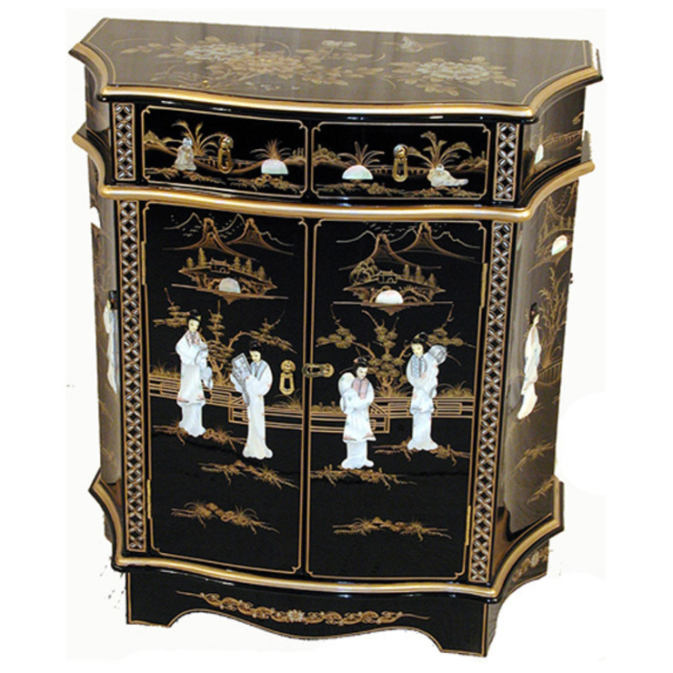 Chinese Lacquer Sculpted Cabinet: asian  by Asia Dragon  Furniture  from London, Asian
