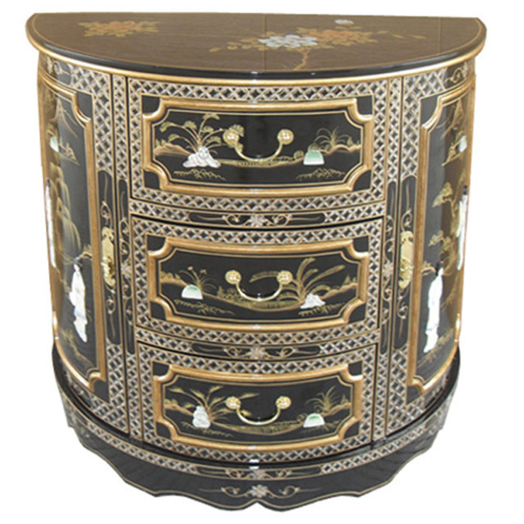 Chinese Lacquer Demi Cabinet: asian  by Asia Dragon  Furniture  from London, Asian