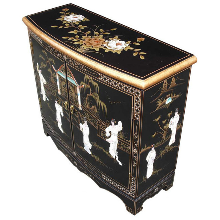 Chinese Lacquer Curved Cabinet: asian  by Asia Dragon  Furniture  from London, Asian
