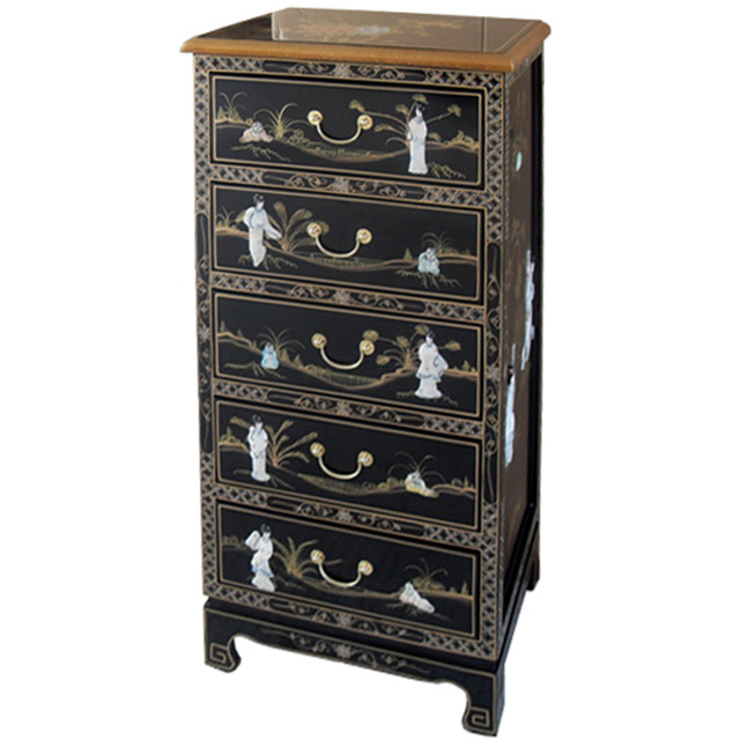 Chinese Lacquer Tallboy Chest: asian  by Asia Dragon  Furniture  from London, Asian