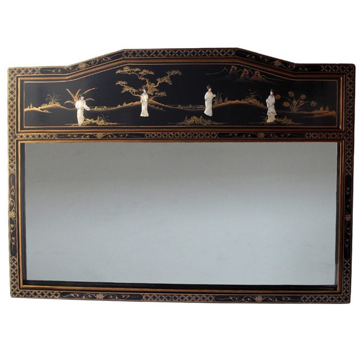 Chinese Lacquer Mirror: asian  by Asia Dragon  Furniture  from London, Asian