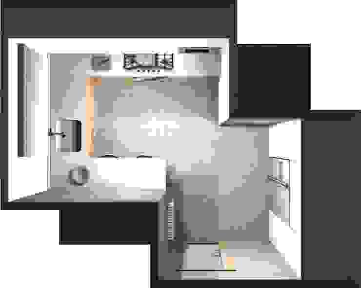 DISEÑO 3D - VISTA PÁJARO Cocinas de estilo moderno de COCINAS SANTOS Moderno