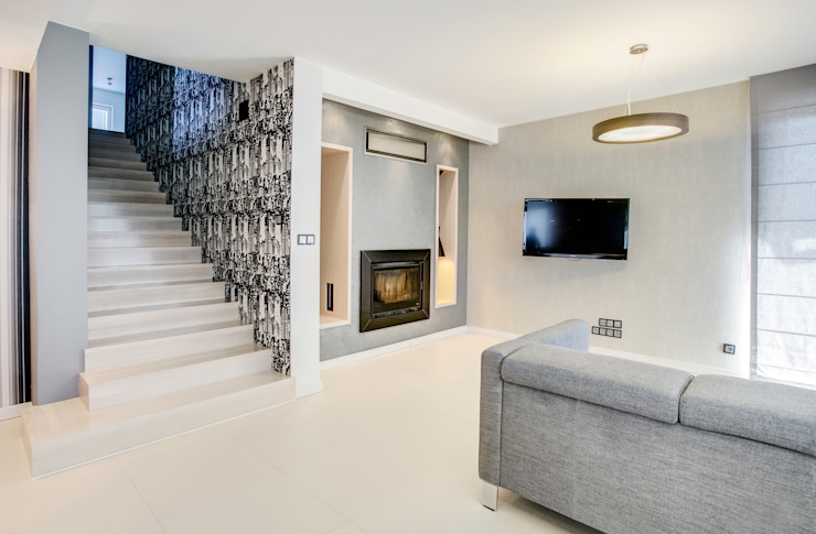 DK architektura wnętrz Living room