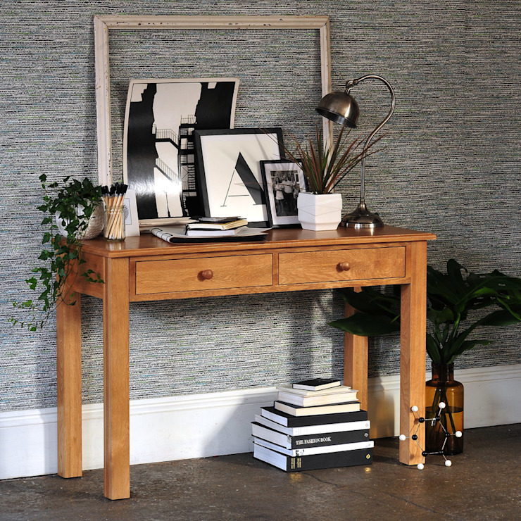 Appleby Oak Wide Laptop Desk The Cotswold Company Living roomSide tables & trays