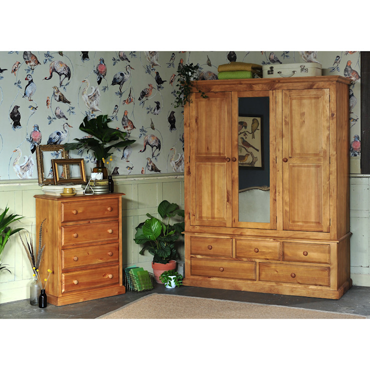 Langley Pine Bedroom Furniture por The Cotswold Company Campestre