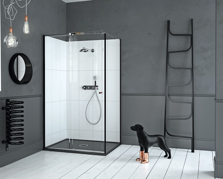 Mosc Slider Corner Black: modern  by Matki Showering, Modern