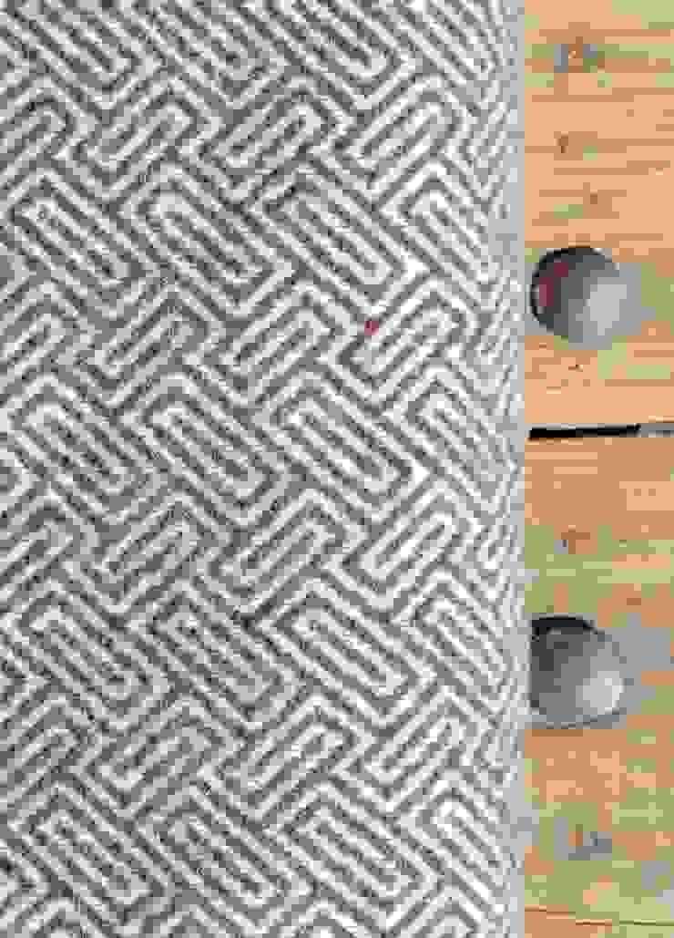 wollen plaid bruin maze van Burra Burra Klassiek
