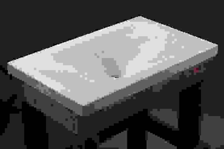 """concrete sink """"White sea lagoon"""" от Pietra Danzare Лофт"""