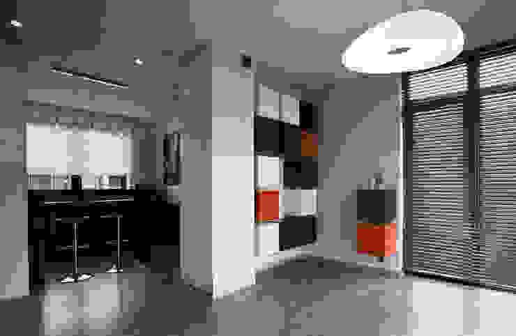 Apartament Orange Nowoczesny salon od KLIFF DESIGN Nowoczesny