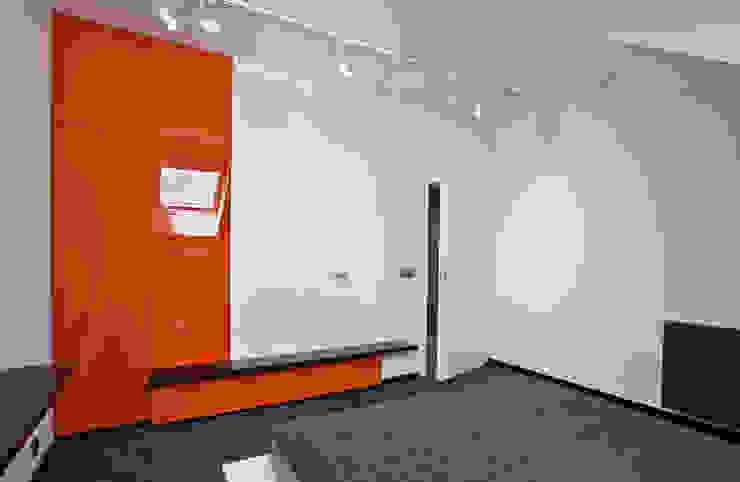 Apartament Orange Nowoczesna sypialnia od KLIFF DESIGN Nowoczesny