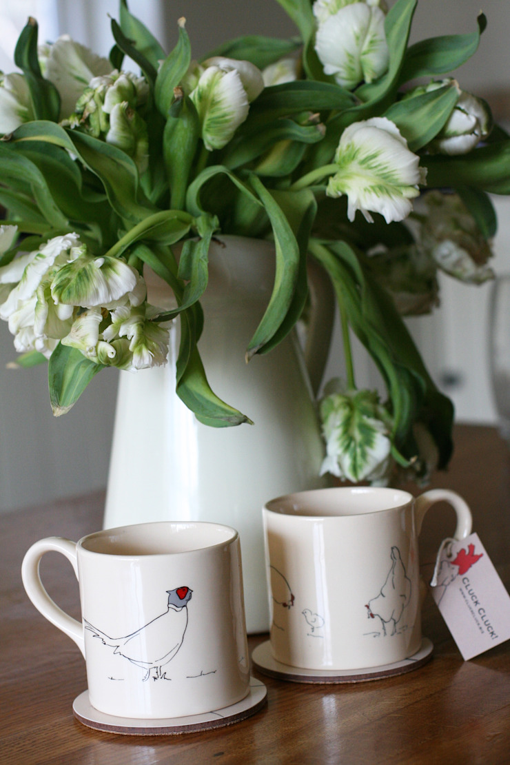 Handmade earthenware mugs: country  by Cluck Cluck!, Country