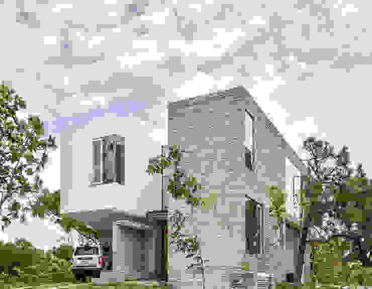 Casa en el Cielo : Casas de estilo  por Villar Watty Arquitectos , Moderno