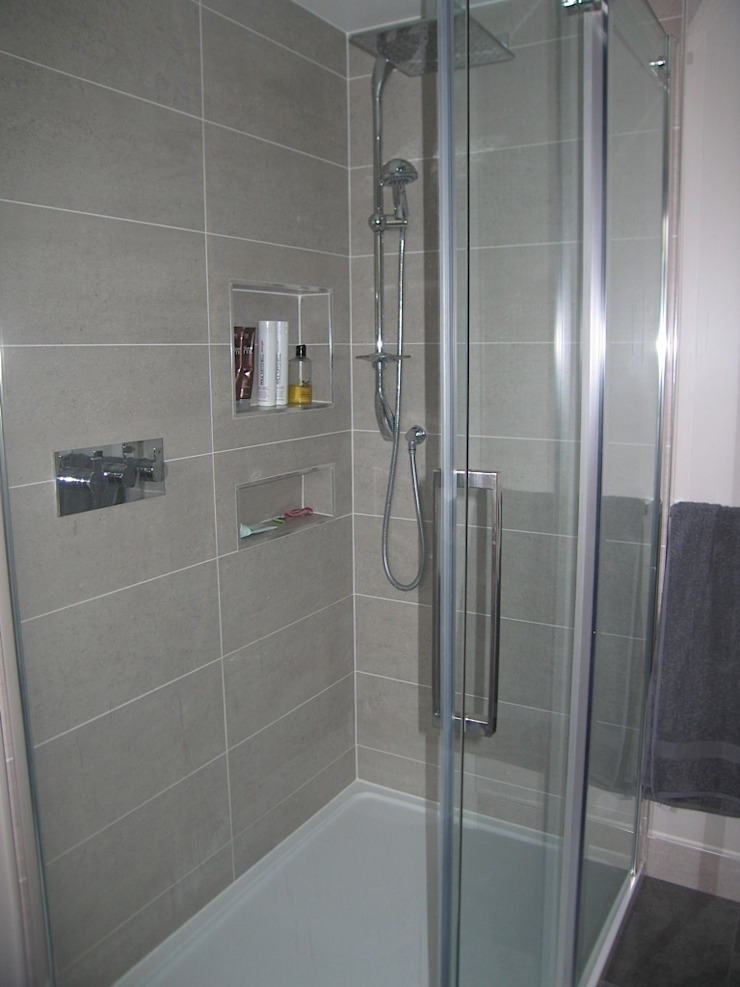 Modern built in shower shelve A1 Lofts and Extensions BagnoVasche & Docce