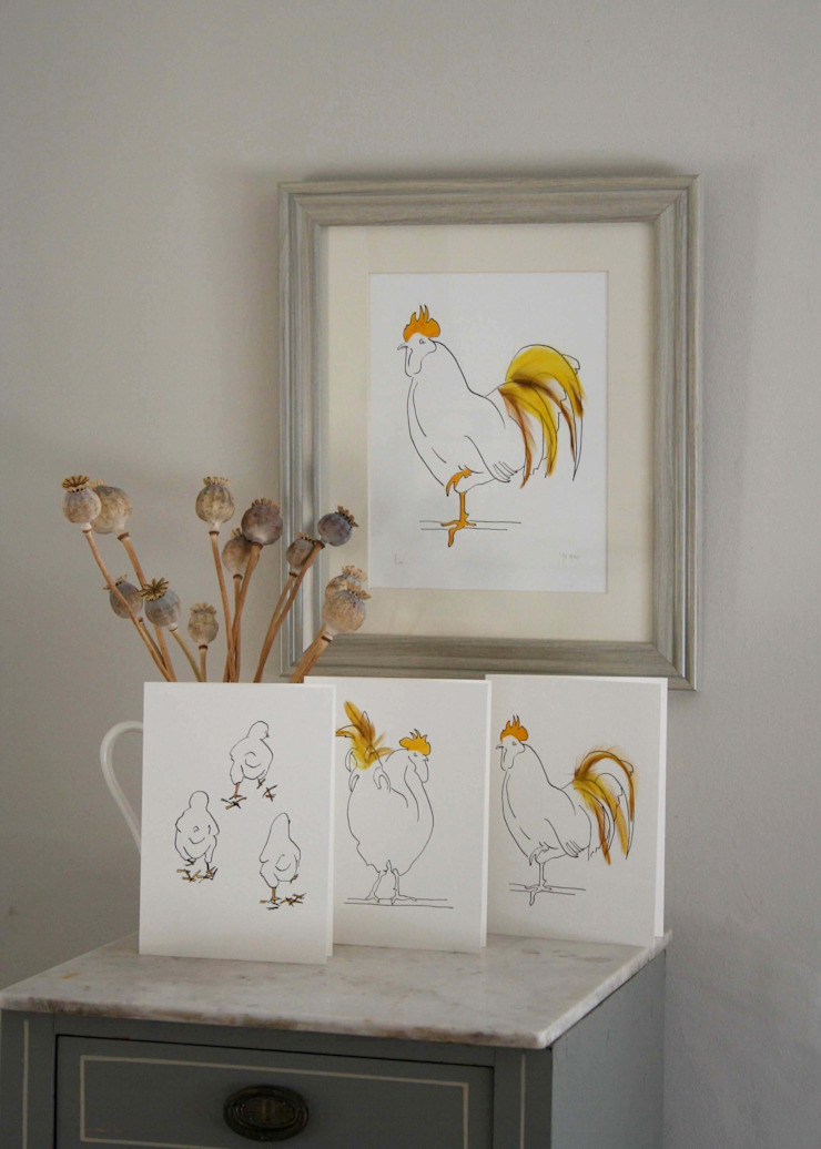 Hand finish print and cards: minimalist  by Cluck Cluck!, Minimalist