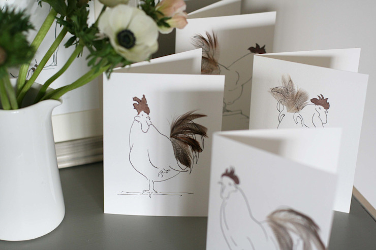 Hand finished cards: country  by Cluck Cluck!, Country