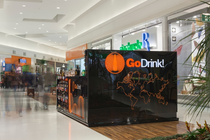 GO DRINK! Shopping Centers modernos por Craft-Espaço de Arquitetura Moderno