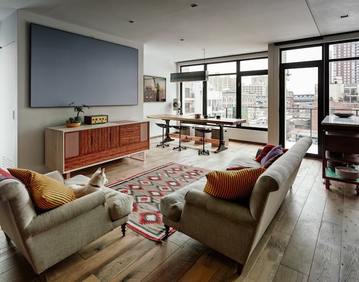 Vinegar Hill Apartment Ruang Media Modern Oleh General Assembly Modern