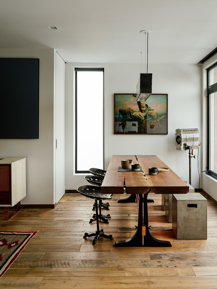 Vinegar Hill Apartment Modern dining room by General Assembly Modern