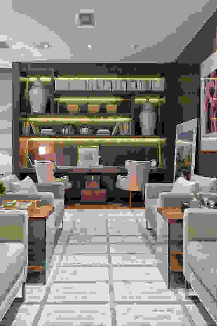 Estar Íntimo Salas de estar minimalistas por Viviane Loyola Arquitetura e Interiores Minimalista