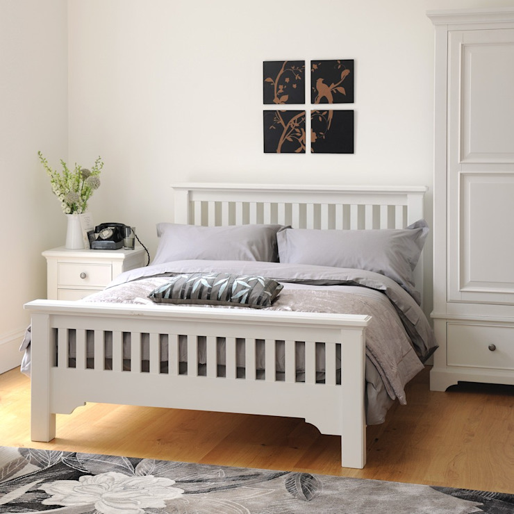 Ascot White 4ft6 Double Bed من The Cotswold Company بلدي