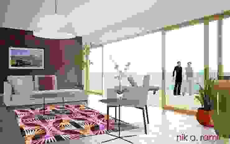 Modern Living Room: modern  by Nik A Ramli Interior Design, Modern