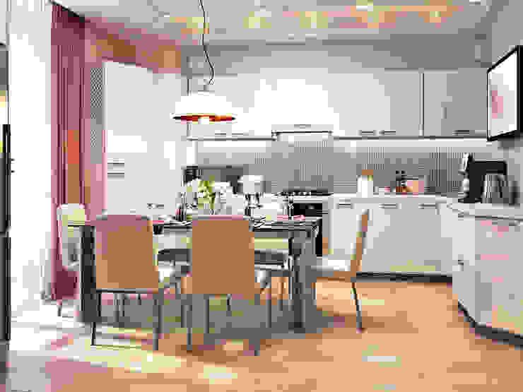 Элегантная и модная кухня с зеркальным фартуком + лаконичная прихожая Кухня в стиле модерн от Студия дизайна Interior Design IDEAS Модерн