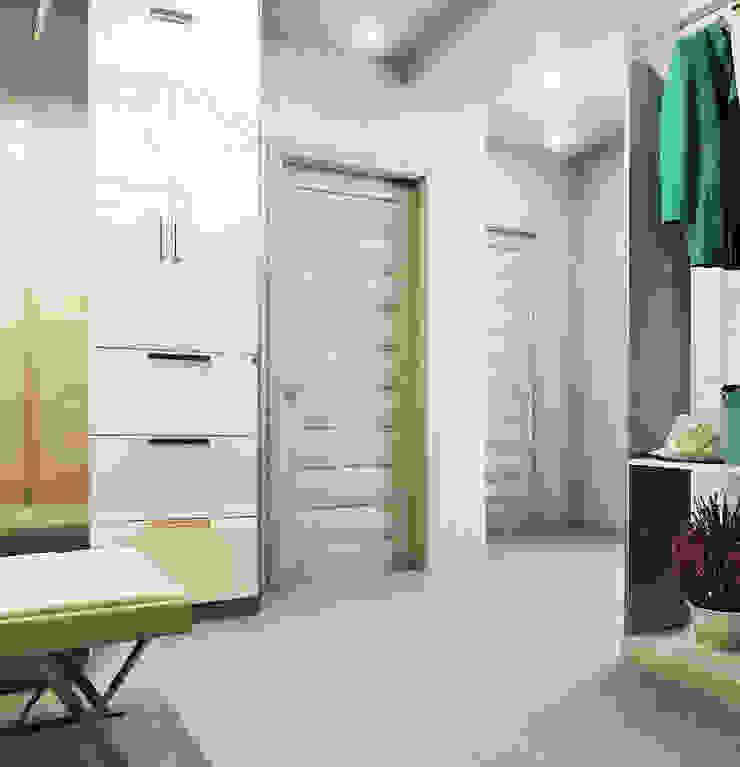 Элегантная и модная кухня с зеркальным фартуком + лаконичная прихожая Коридор, прихожая и лестница в модерн стиле от Студия дизайна Interior Design IDEAS Модерн