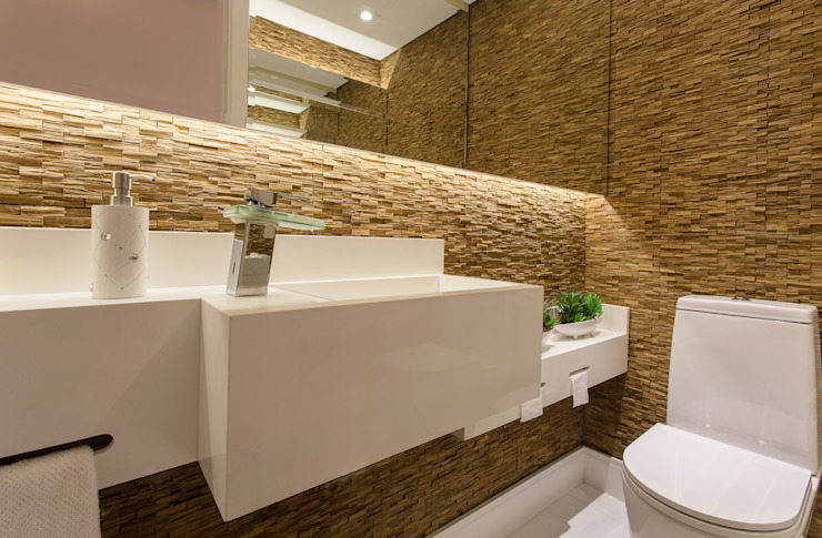 Rustic style bathroom by Barbara Dundes | ARQ + DESIGN Rustic