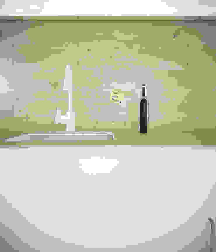 Projekt Wnętrza: Mieszkanie Młodego Architekta Skandynawska kuchnia od Akuratnie Skandynawski