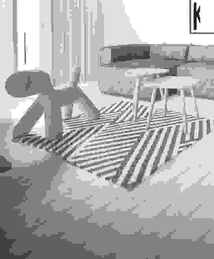 Projekt Wnętrza: Mieszkanie Młodego Architekta Skandynawski salon od Akuratnie Skandynawski