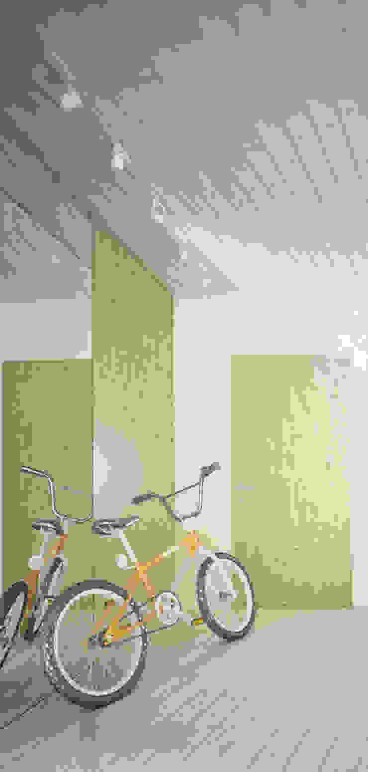 Projekt Wnętrza: Mieszkanie Młodego Architekta Skandynawski korytarz, przedpokój i schody od Akuratnie Skandynawski